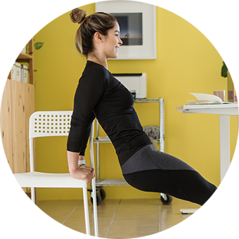 What desk exercise equipment is available to help you stay active?
