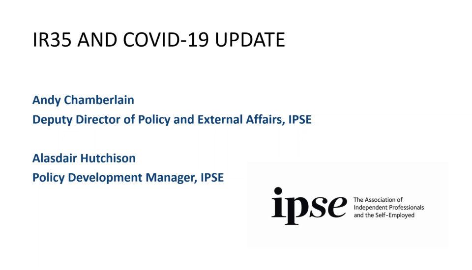 IR35 and Coronavirus update