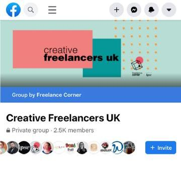 Creative Freelancers UK Facebook group