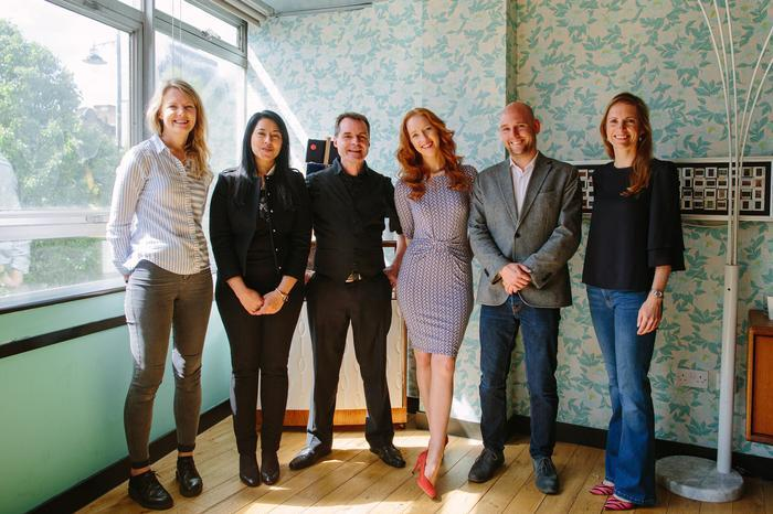 Iona Bain with other finalists for Freelancer of the Year award
