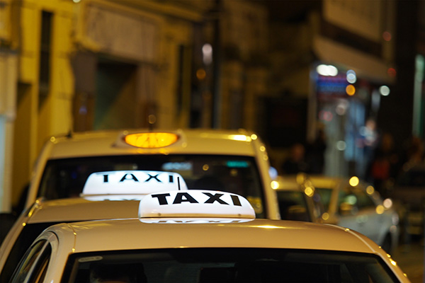 Taxi at night time