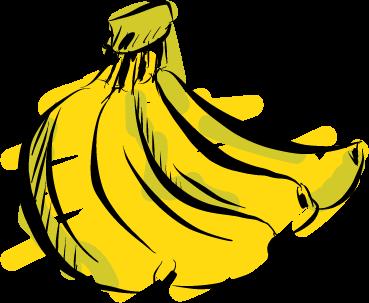banana yellow green ripe fruit