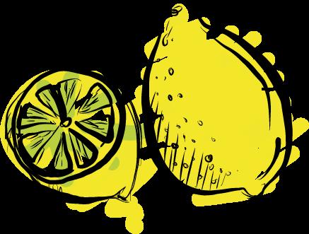 lemon fruit yellow green