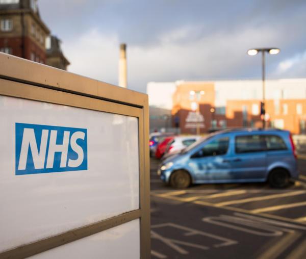 NHs carpark car parked hospital health